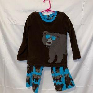 Carter's bear fleece pajama set